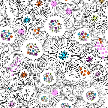 Flowers of Asters and Chrysanthemums by Nata-V