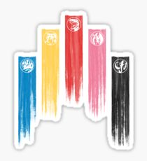 Power Rangers - Original 5 Team Streaks Sticker