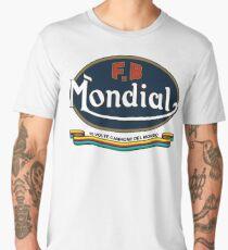 Mondial FB Ribbon WHITE DISTRESSED Men's Premium T-Shirt