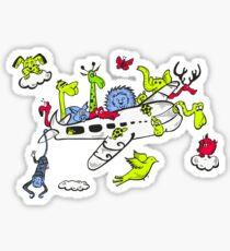 Animal Plane Sticker