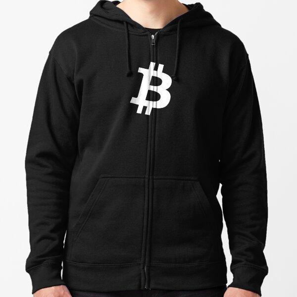 Bitcoin Logo - B Symbol Zipped Hoodie