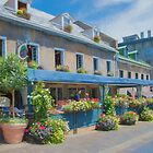 A Charming Terrasse in Old Montreal by Gerda Grice