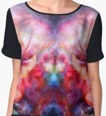 Conflict double trouble and mirror red rage Women's Chiffon Top