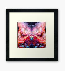 Conflict double trouble and mirror red rage Framed Print