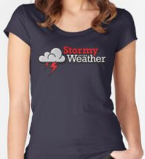 Stormy weather inside Women's Fitted Scoop T-Shirt