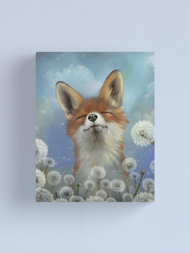 Alternate view of Dandelion fox Canvas Print