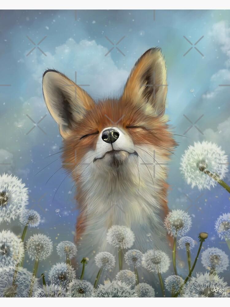 Dandelion fox by ThePhoenixx