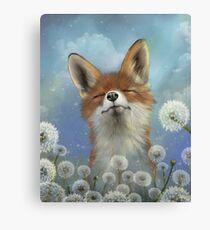 Dandelion fox Canvas Print