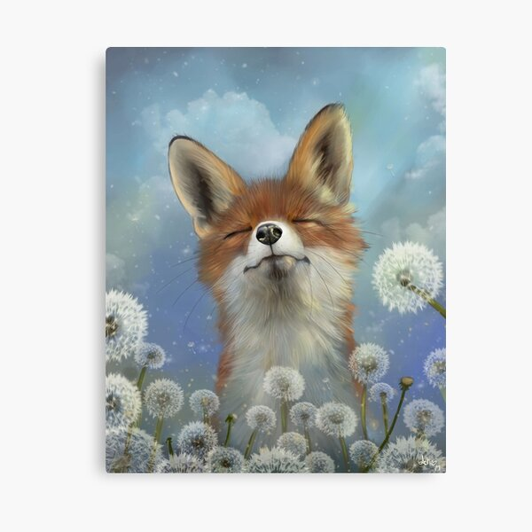 Dandelion fox Canvas Print