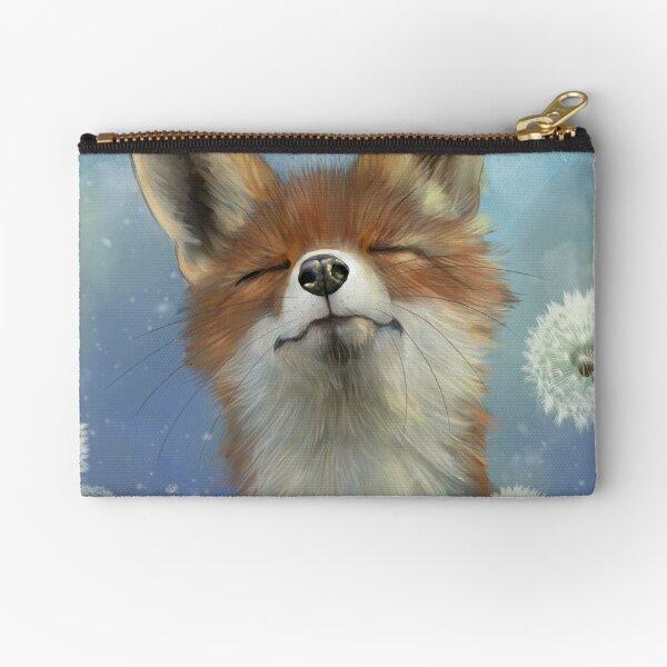 Dandelion fox Zipper Pouch