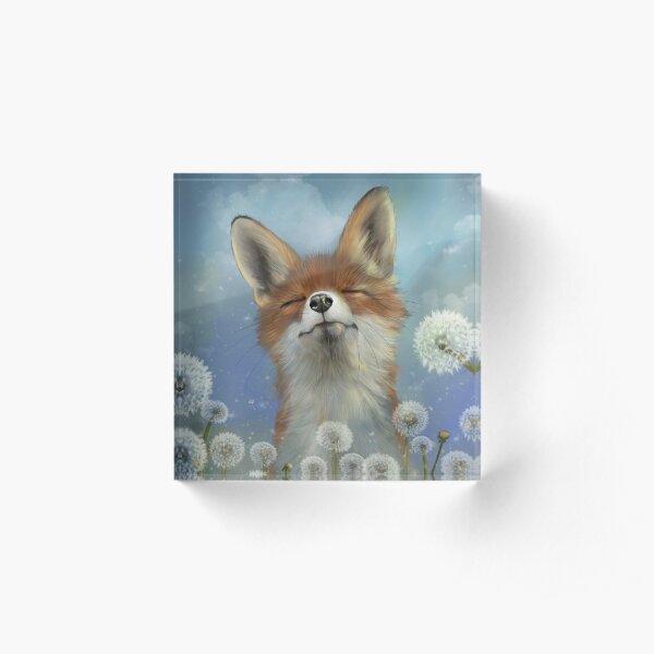 Dandelion fox Acrylic Block