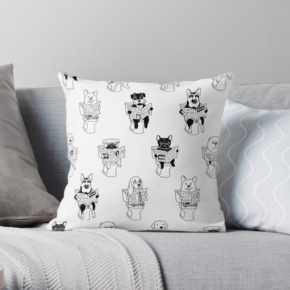 Morning Constitutional Throw Pillow