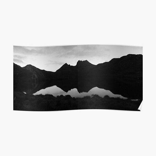 Cradle Mountain B&W Poster