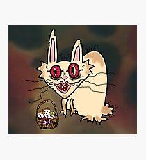 Creepy Rabbit Photographic Print