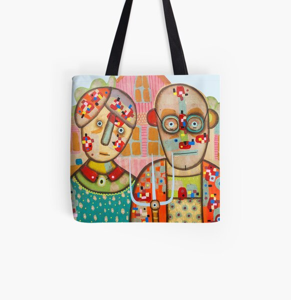 The American Gothic All Over Print Tote Bag