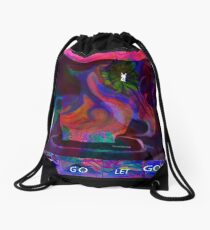 Crazy Little Tea Pot-abstract...enjoy Drawstring Bag