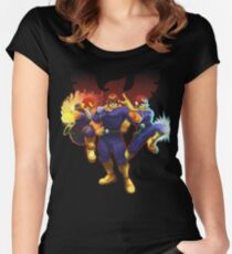 Show Me Your Moves, Captain Falcon!  Women's Fitted Scoop T-Shirt