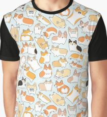 Corgilicious Corgi Doodle Graphic T-Shirt