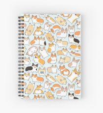 Corgilicious Corgi Doodle Spiral Notebook