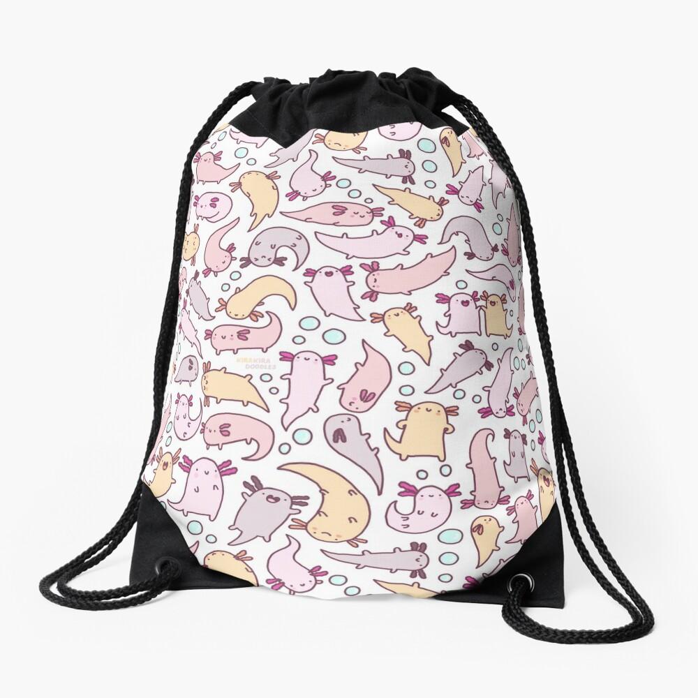 Adorable Axolotls Drawstring Bag