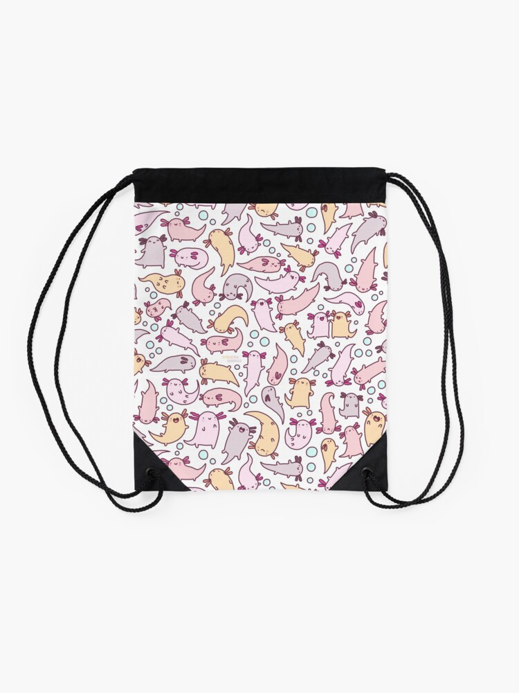 Alternate view of Adorable Axolotls Drawstring Bag