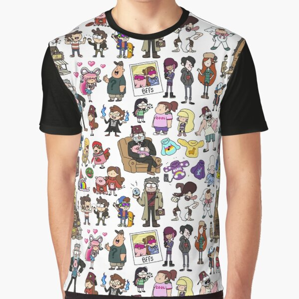Cute Gravity Falls Doodle Graphic T-Shirt