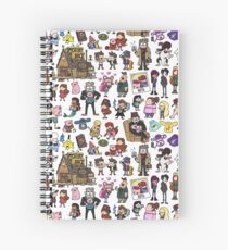 Cute Gravity Falls Doodle Spiral Notebook