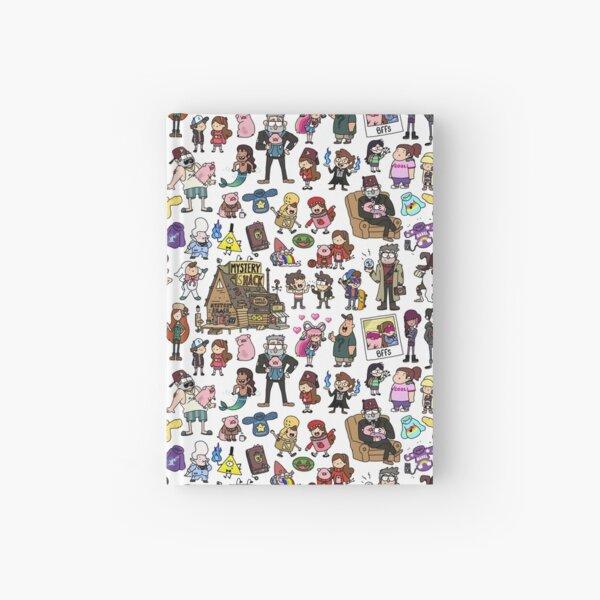 Cute Gravity Falls Doodle Hardcover Journal