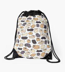 Pug Life Doodle Drawstring Bag