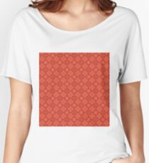 Carter Pattern-Red Women's Relaxed Fit T-Shirt