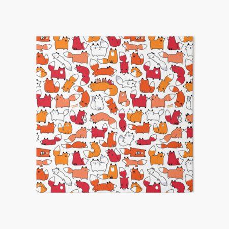 Foxy Foxes Art Board Print