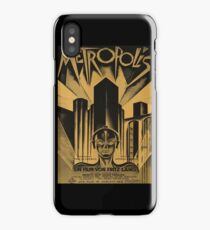 Metropolis, Fritz Lang, 1926 - vintage movie poster, b&w iPhone Case/Skin