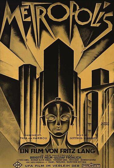 Metropolis, Fritz Lang, 1926 - Jahrgang Filmplakat, b & w von Alma-Studio