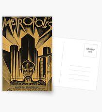 Metropolis, Fritz Lang, 1926 - vintage movie poster, b&w Postcards