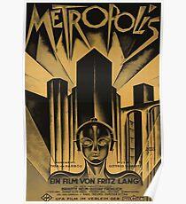Metropolis, Fritz Lang, 1926 - vintage movie poster, b&w Poster