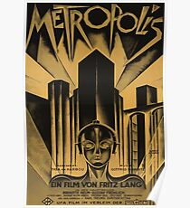Metropolis, Fritz Lang, 1926 - Jahrgang Filmplakat, b & w Poster