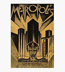 Metropolis, Fritz Lang, 1926 - vintage movie poster, b&w Photographic Print