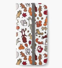 Squirrels in Fall Doodle iPhone Wallet/Case/Skin