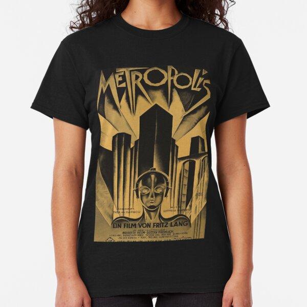Metropolis, Fritz Lang, 1926 - Vintage Filmplakat, b & w Classic T-Shirt