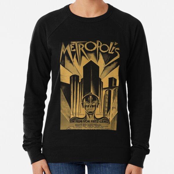 Metropolis, Fritz Lang, 1926 - vintage movie poster, b&w Lightweight Sweatshirt