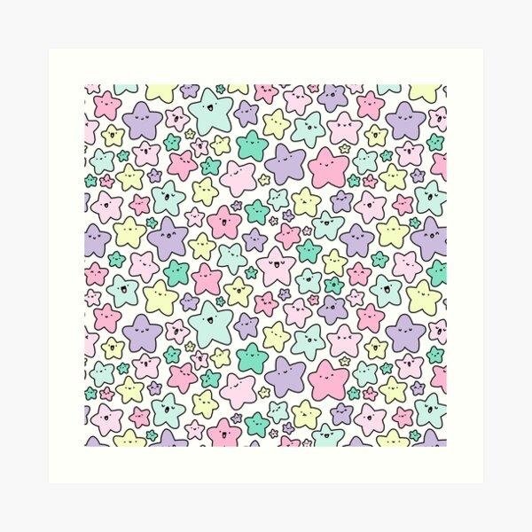Pastel KiraKira Stars Art Print