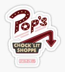 Pops Diner Sticker Sticker