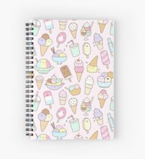I Love Ice Cream Spiral Notebook
