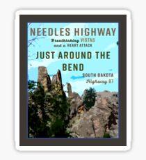 Needles Highway South Dakota Retro Travel Sticker