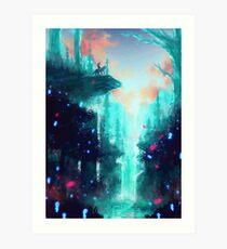 Lámina artística Bosque de Mononoke