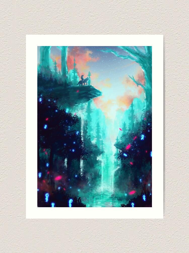 Alternate view of Mononoke Forest Art Print