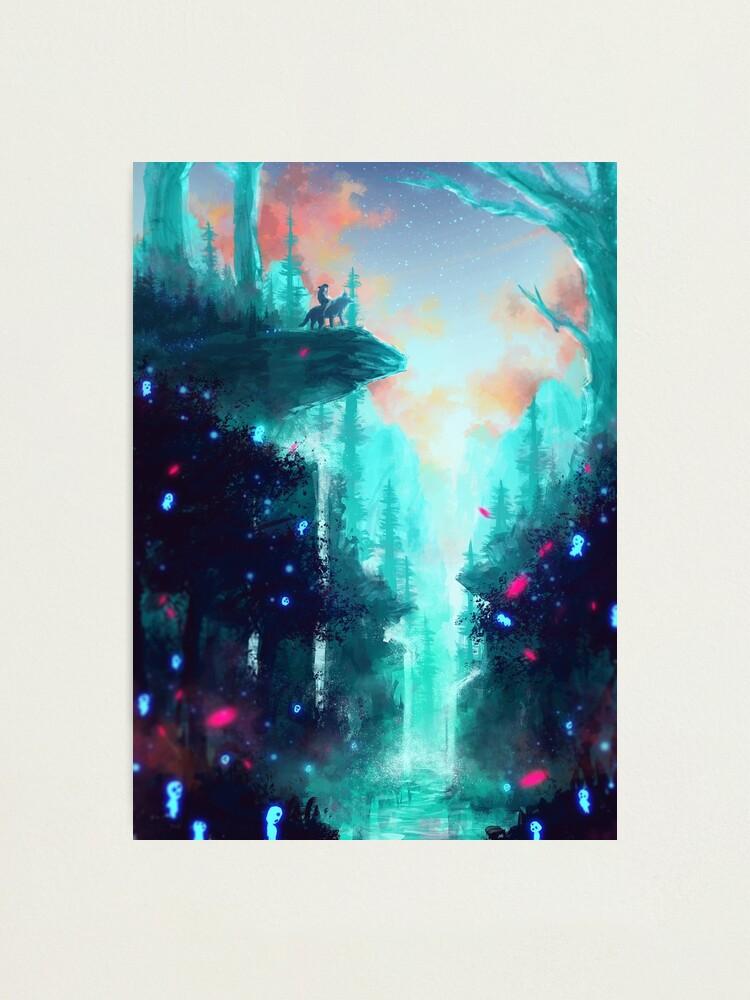 Alternate view of Mononoke Forest Photographic Print