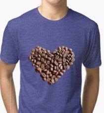 coffee beans heart Tri-blend T-Shirt
