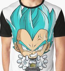 Vegeta God Blue Chibi Graphic T-Shirt