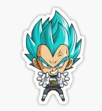 Vegeta God Blue Chibi Sticker